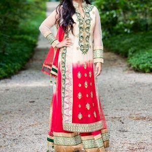 Dresses & Skirts - Red & Green Indian Salwar Suit (Adjustable, 3 pcs)